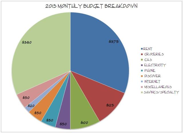 2013 monthly budget